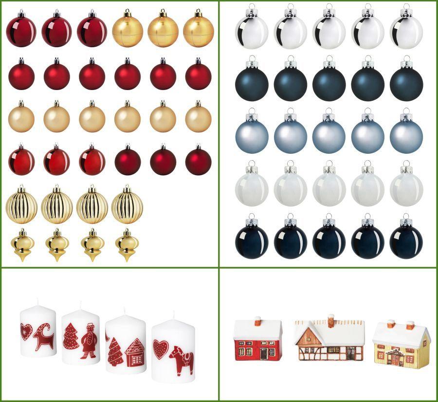 Ikea karácsonyfadíszek