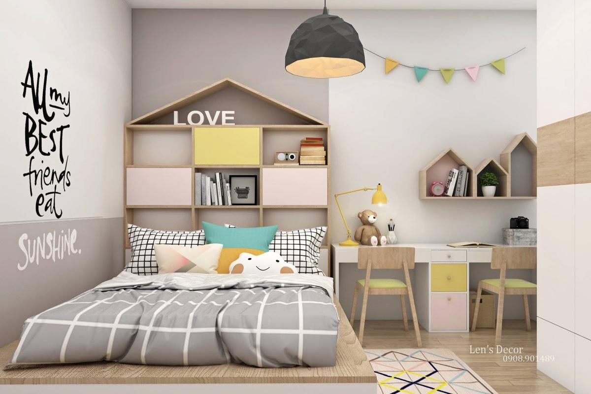 Egyedi ágy polcos kialakítással
