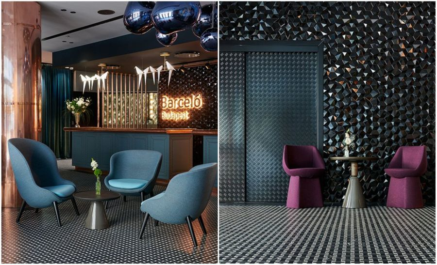 Barcelo Hotel Budapest hexagon dekorburkolat