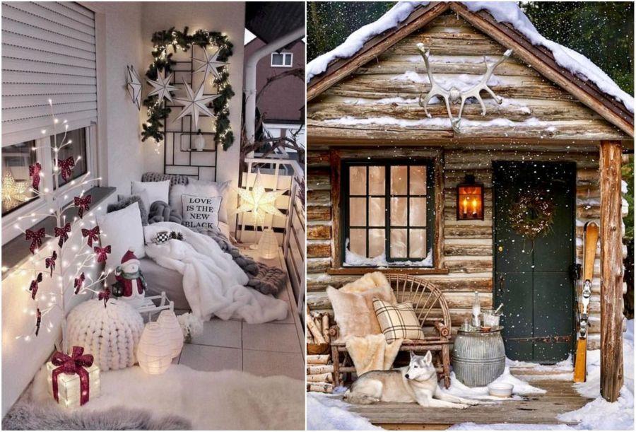 Meleg takarókkal a verandán télen