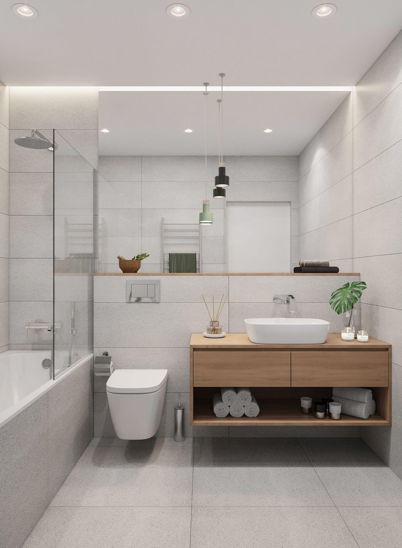 A wc is a fürdőszobában kapott helyet ebben a panellakásban