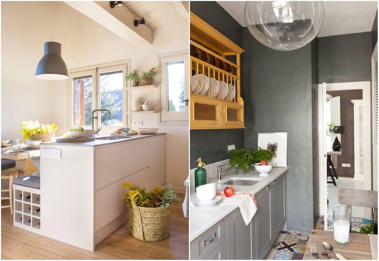 Modern fehér és klasszikus konyhabútor