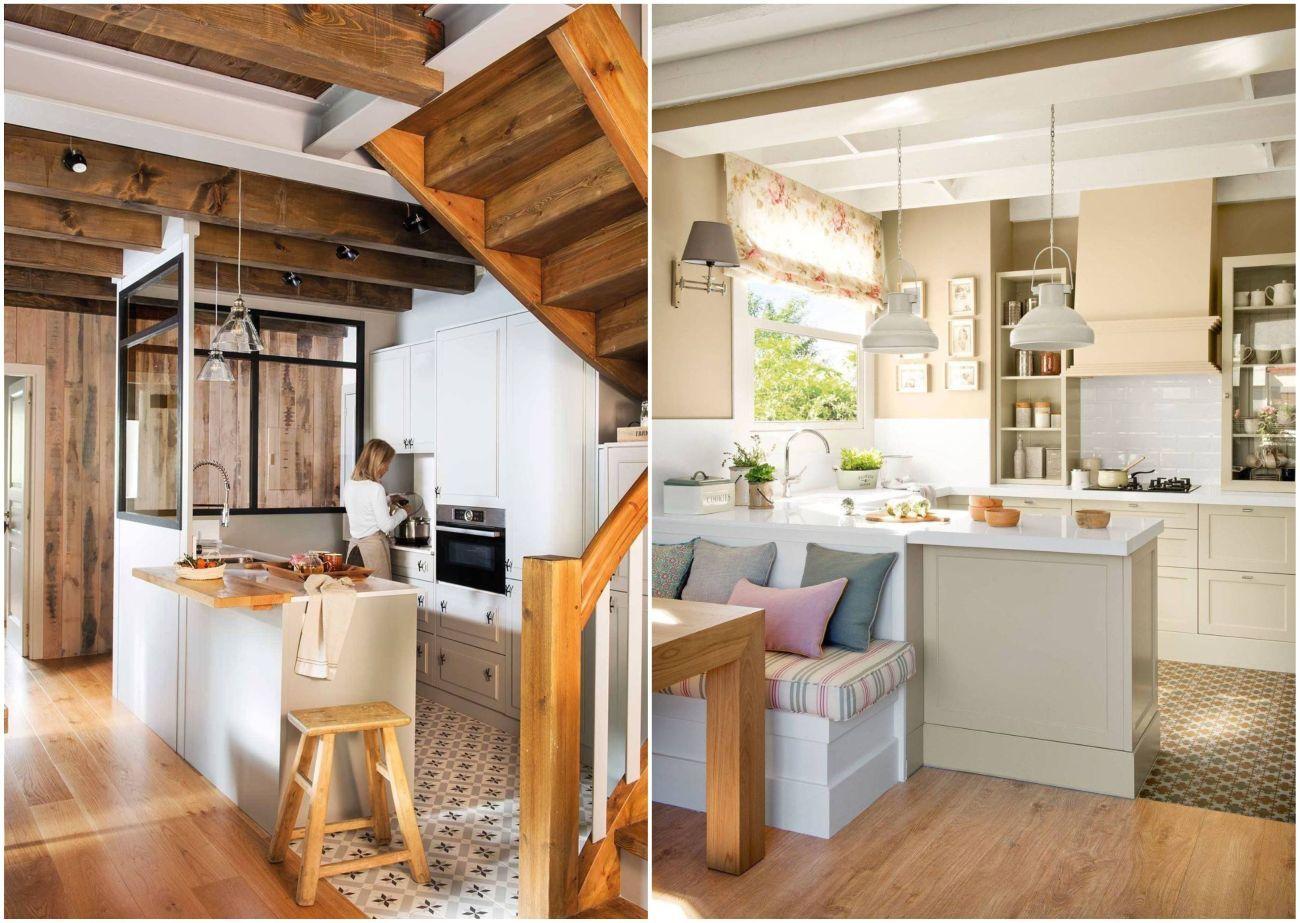 Kis konyhák a nappali részeként
