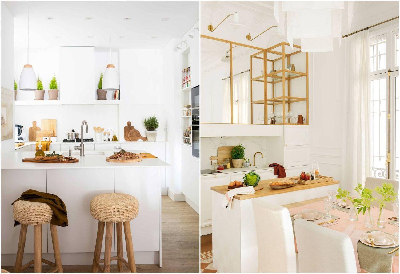 Kis konyhák nyitott polcokkal