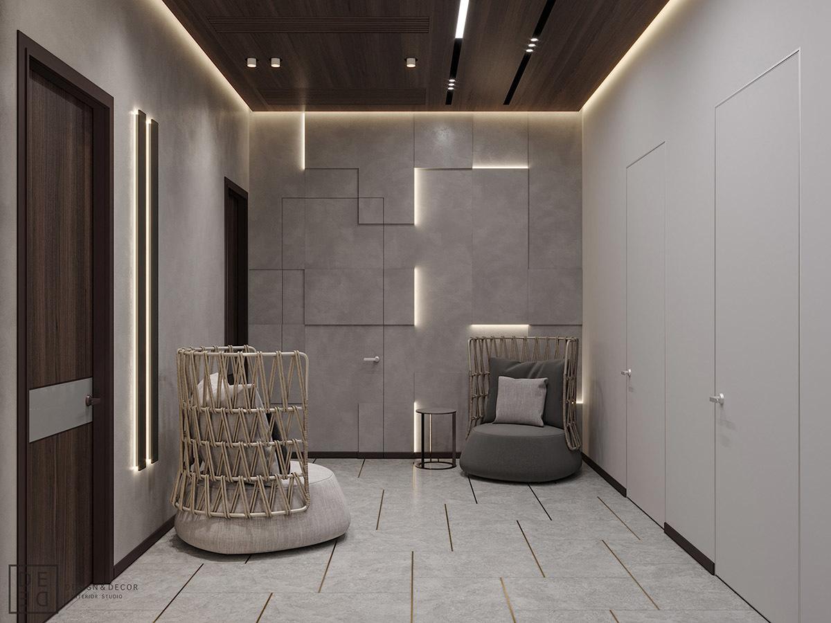 Bejárat az előszobából a mosókonyhába és a vendég fürdőbe