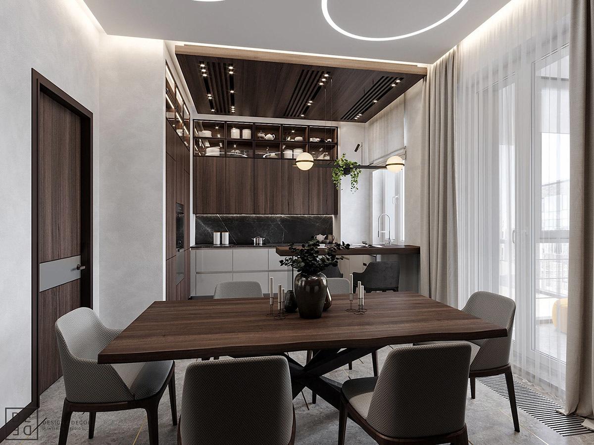 Kényelmes hatszemélyes étkezőasztal