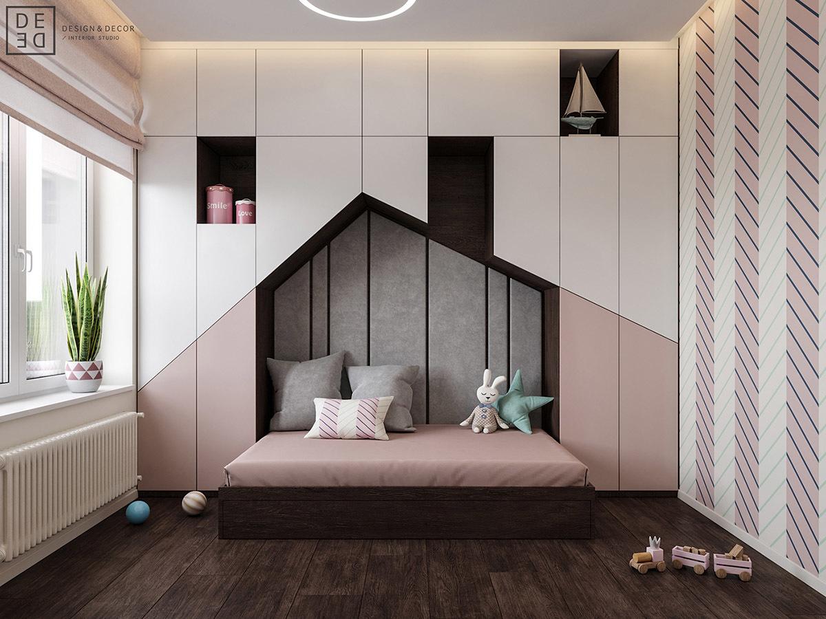 Egyedi tárolórendszerbe integrált ágy