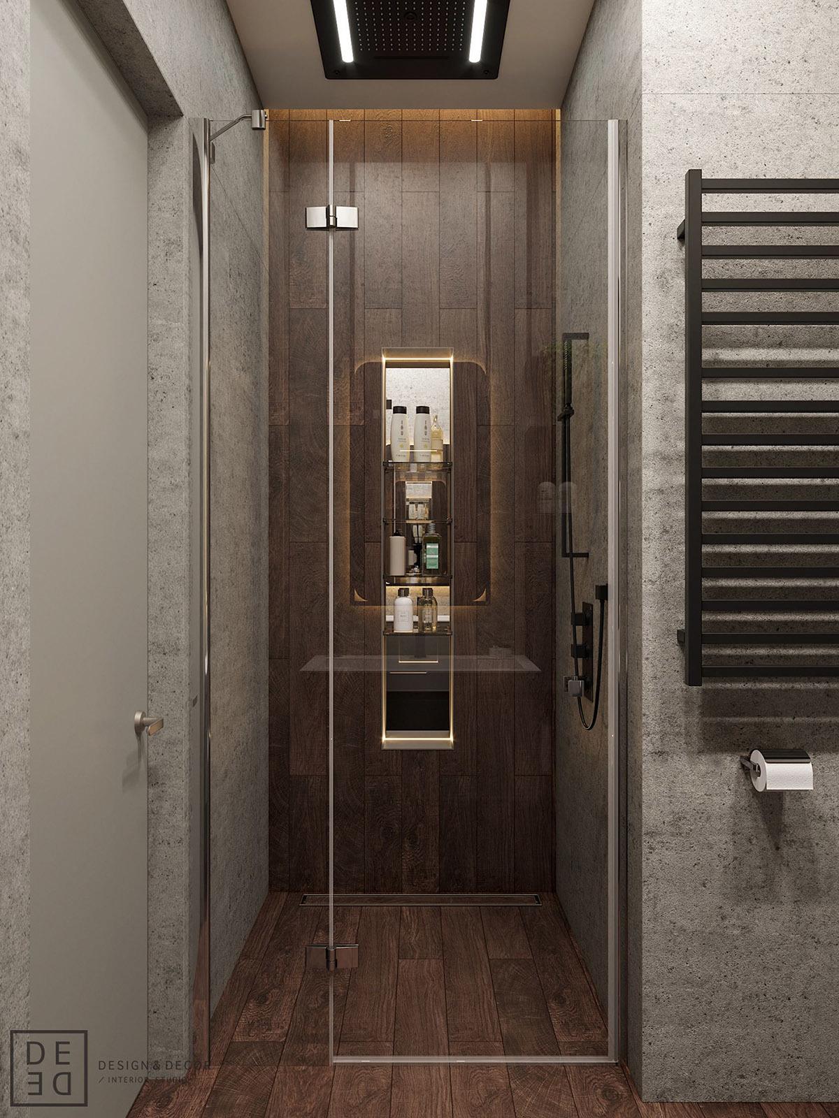 Zuhanyzós vendég fürdőszoba