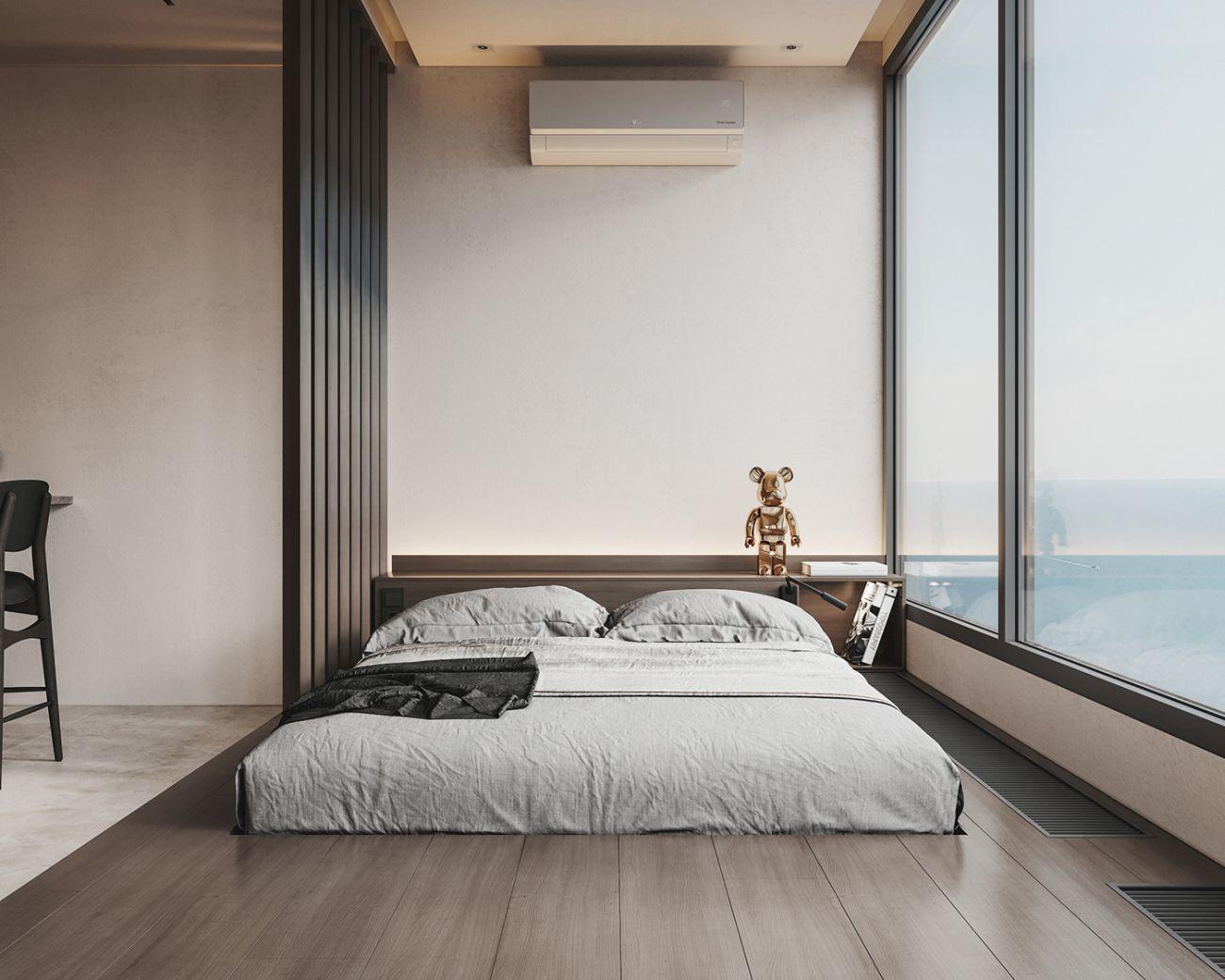Tengerre néző ágy