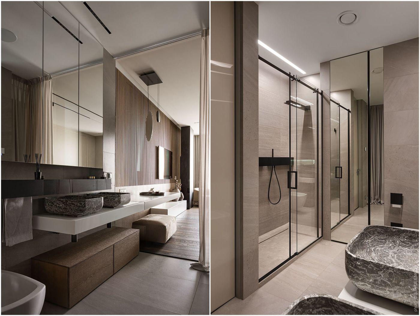 Közvetlen kapcsolatban a fürdőszoba és a hálószoba