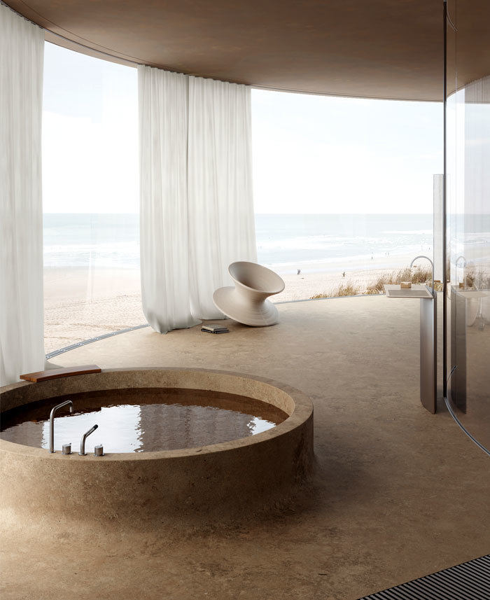 Kinn és benn fürdőkád