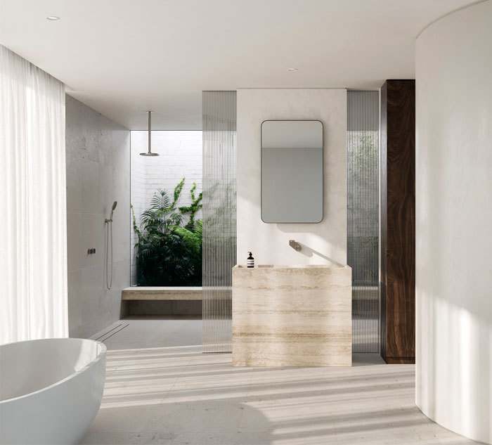 Kőmintás mosdópult