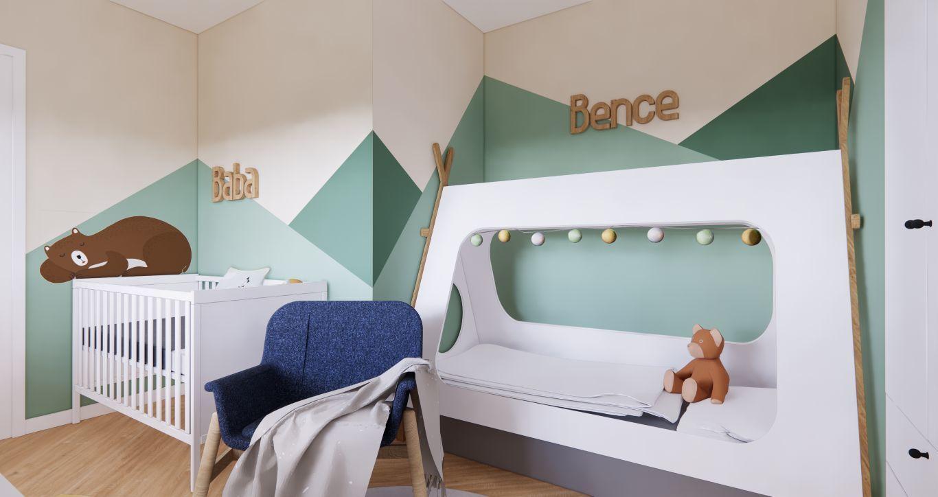 Különleges ágy került a gyerekszobába