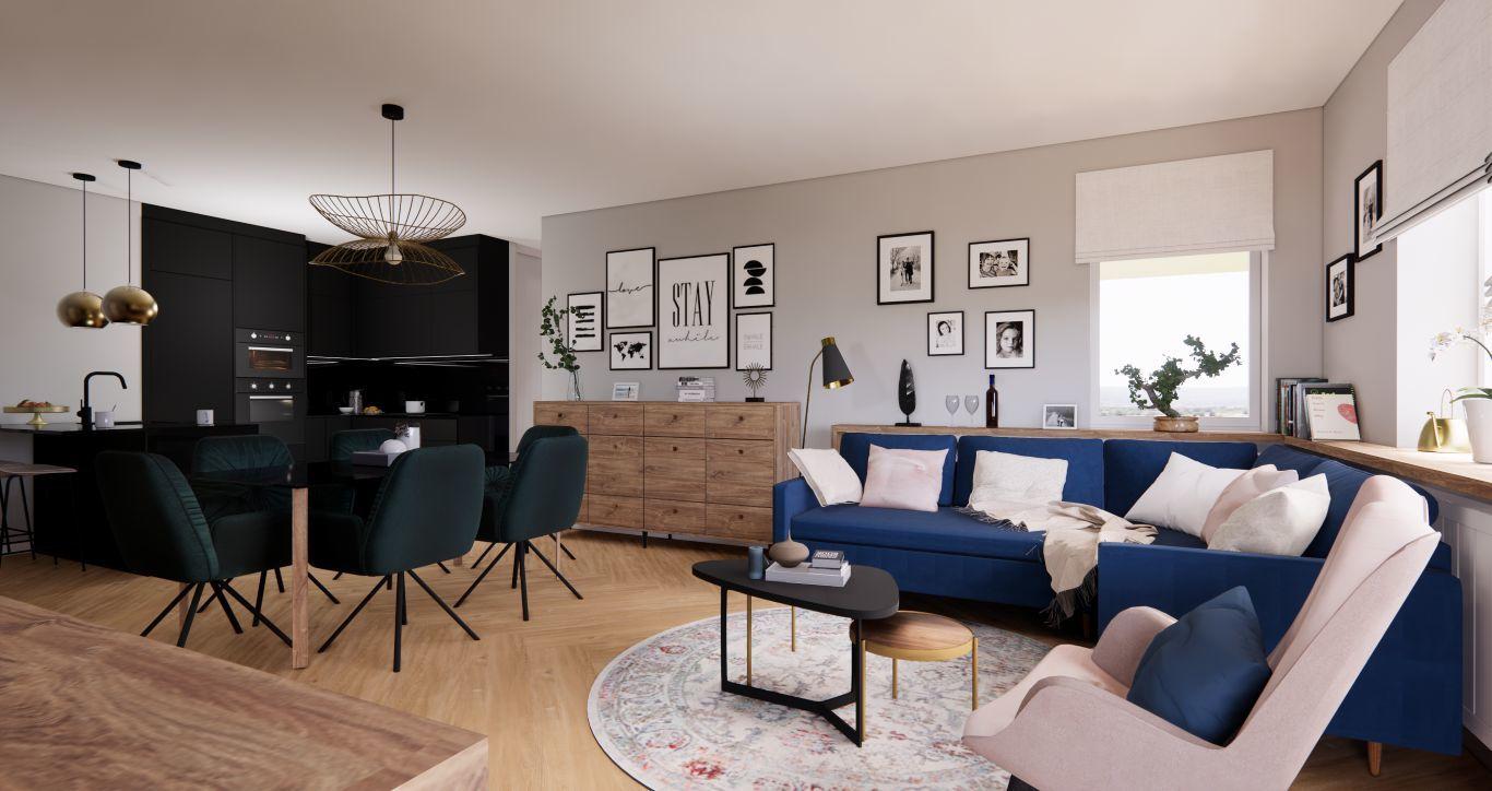 88 m2-es lakás kétgyermekes család részére