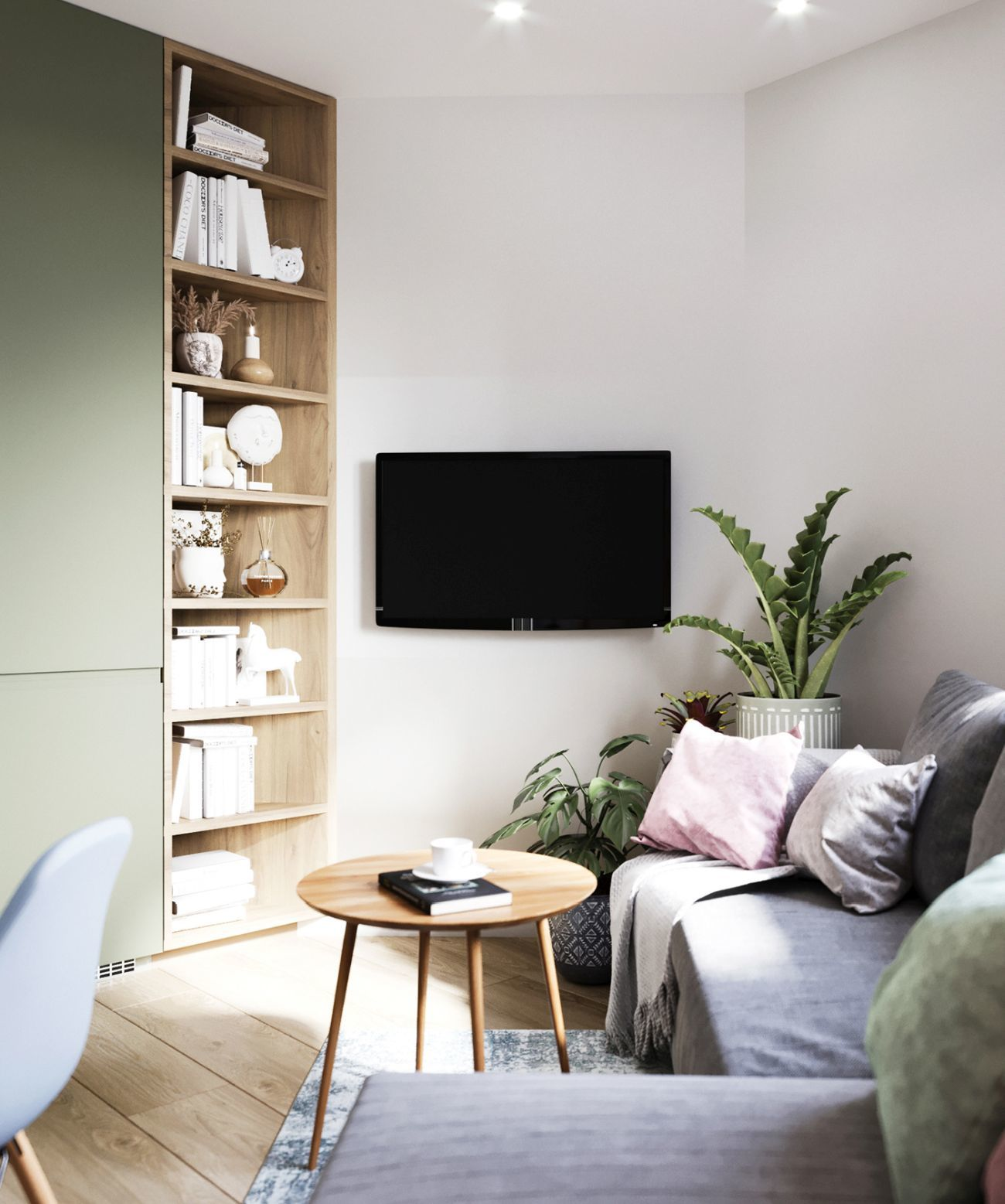 A tévé a kanapéról és az étkezőből is jól látható
