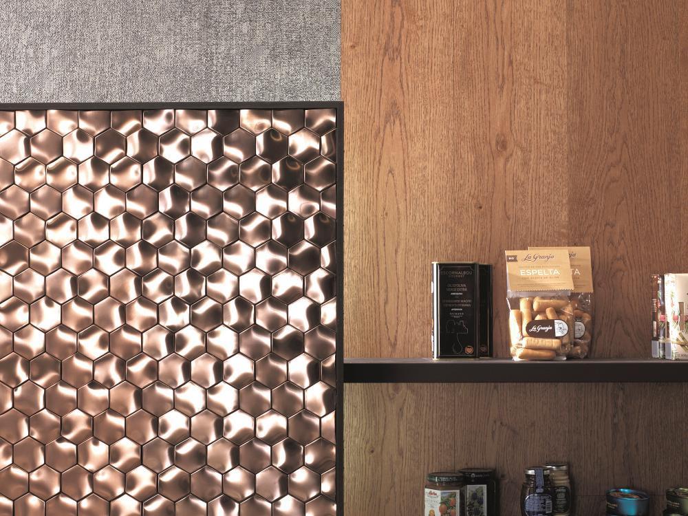 Fényes fém mozaik