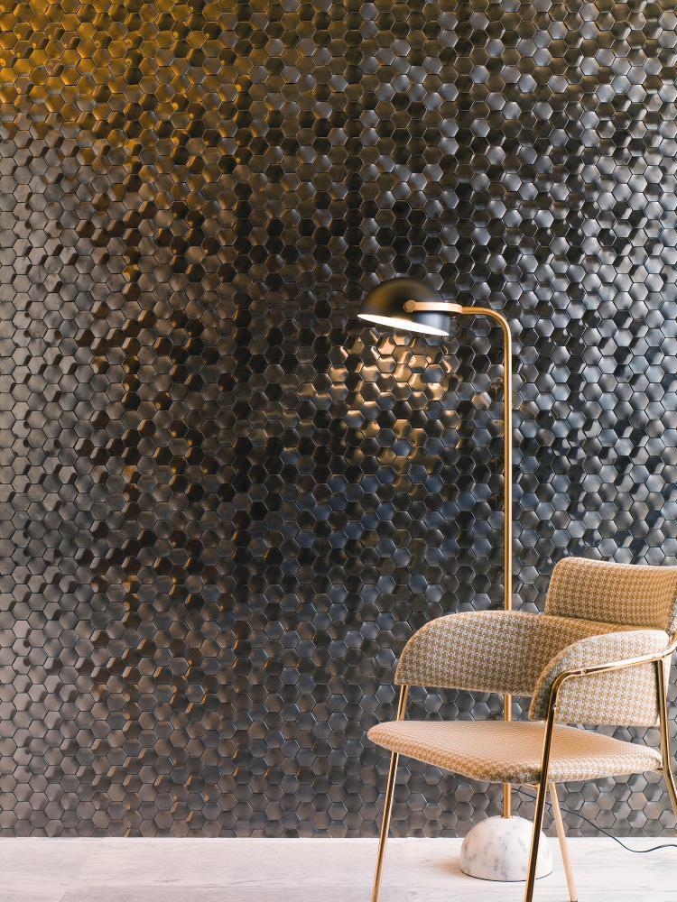 Apró mintás Fényes fém mozaik
