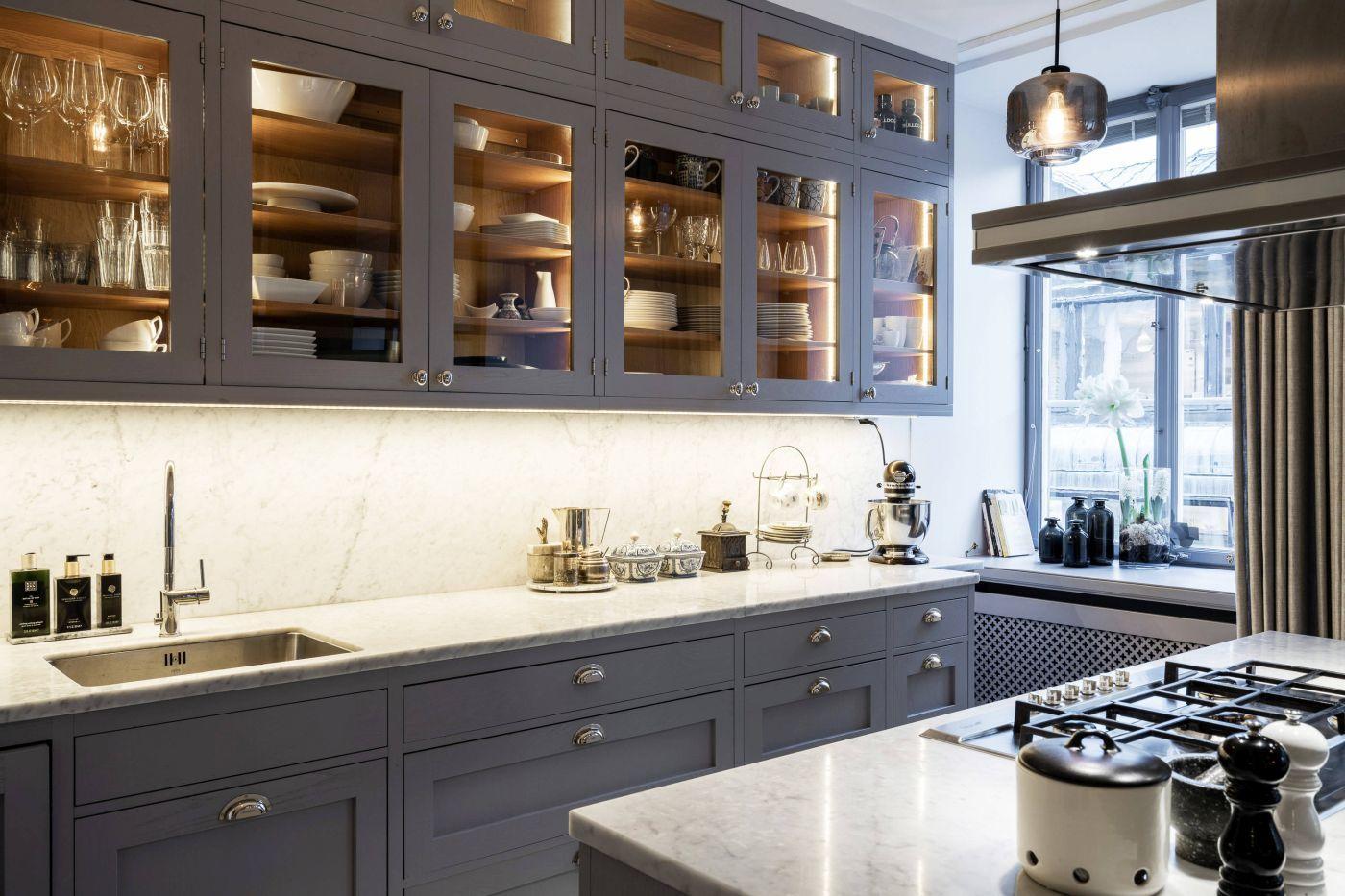 A rejtett fények rengeteget dobnak a konyhaszekrény megjelenésén