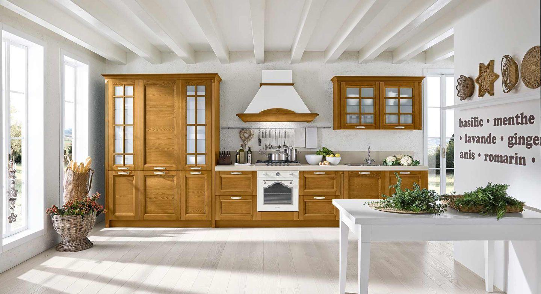 Klasszikus olasz konyhabútor látványos kürtővel