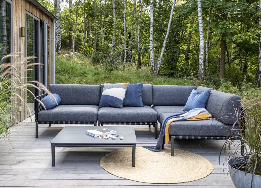 L-alakú kerti kanapé