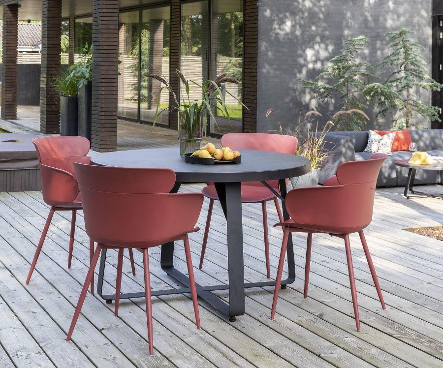Korallvörös kerti szék