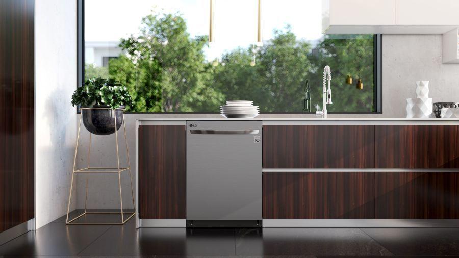 LG mosogatógép barna konyha