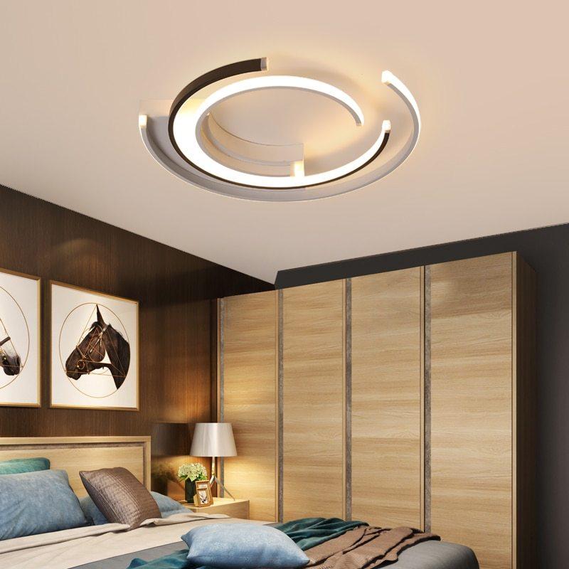 Hálószobai lámpa kör alakú