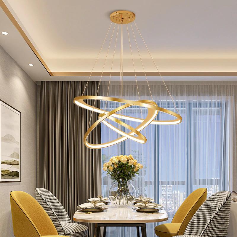 Egymásba fonódó körök lámpa étkezőbe