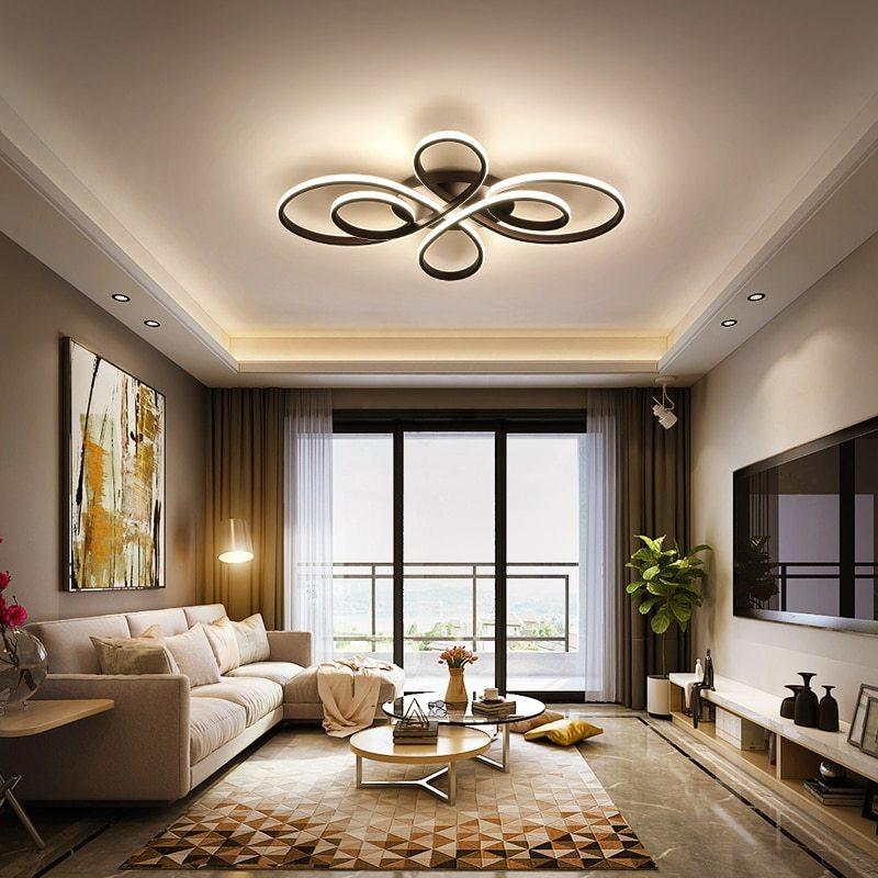 Íves vonalú lámpa nappaliba