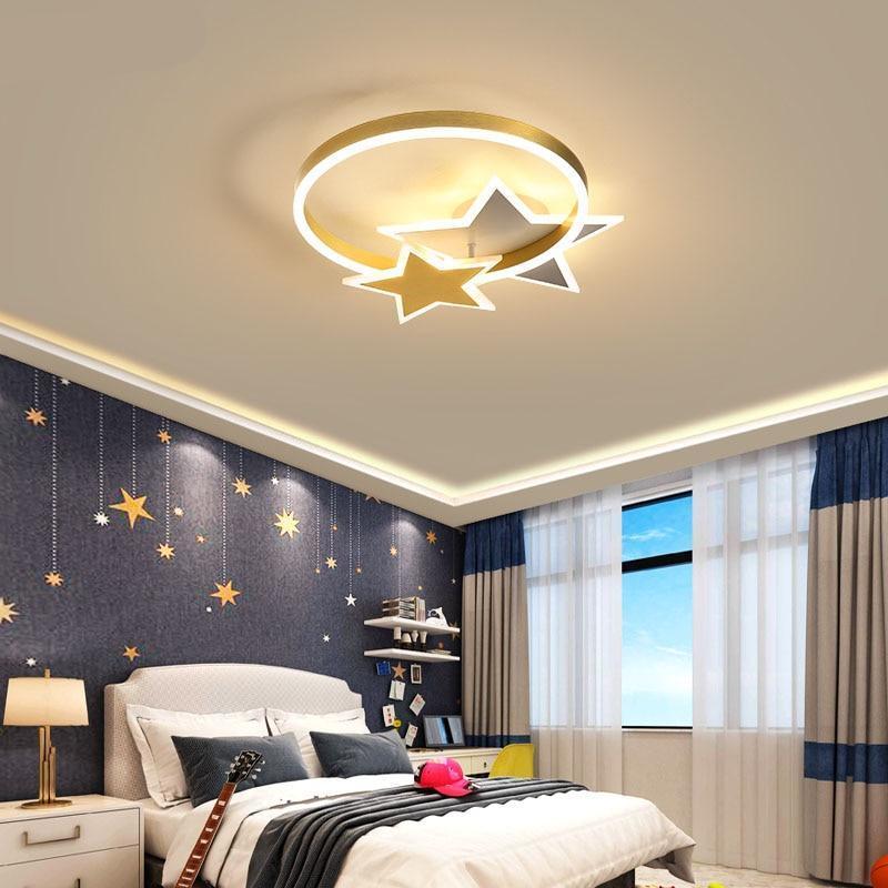 Csillag mintás lámpa hálóba