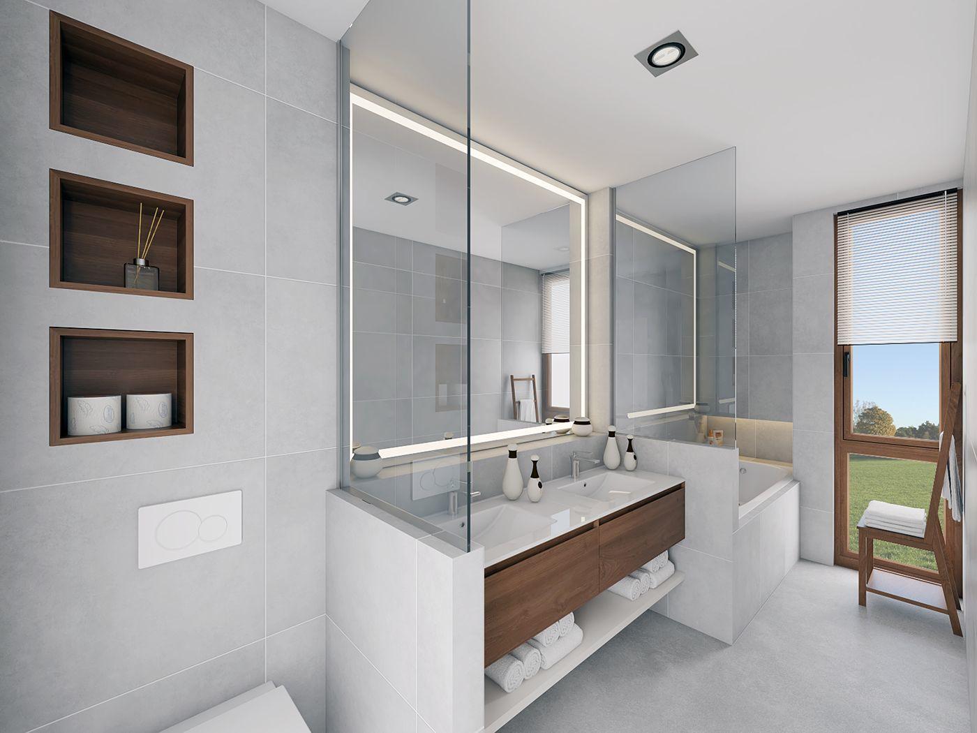 Óriási tükör a mosdó felett
