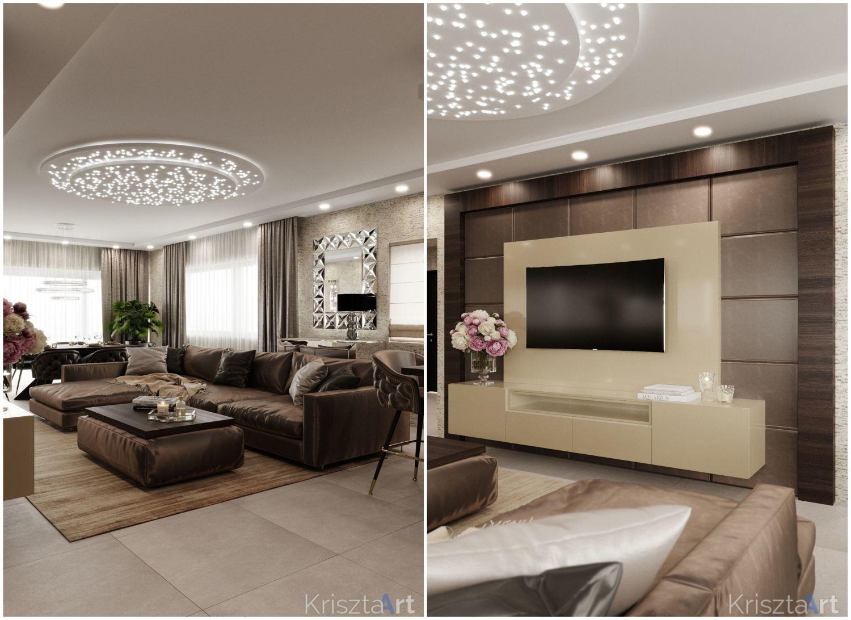 A nappalit különleges mennyezeti lámpa világítja meg