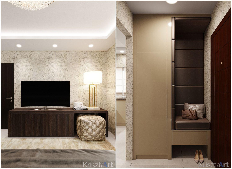 Előszobai szekrény és részlet a hálószobából