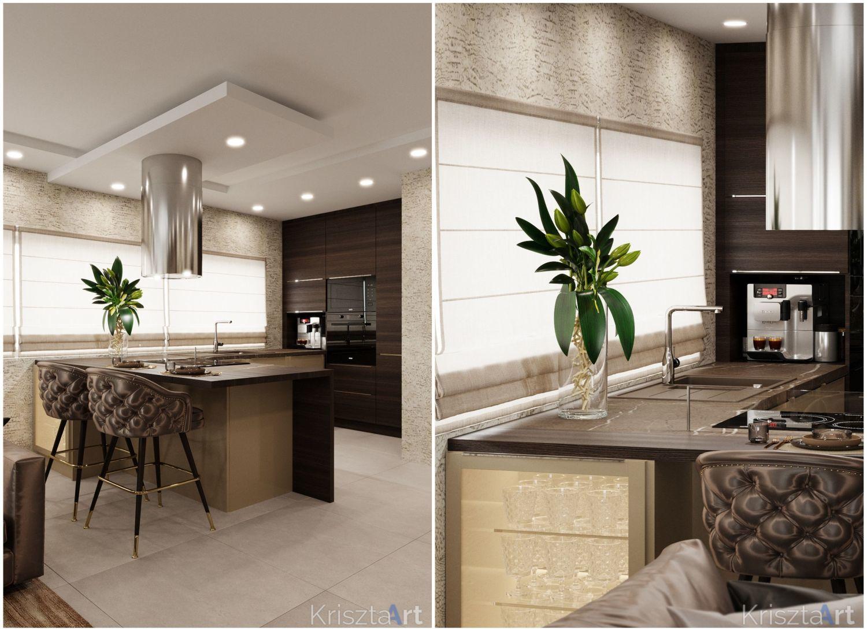 Reggelizőpulttal egészül ki a félszigetes konyha