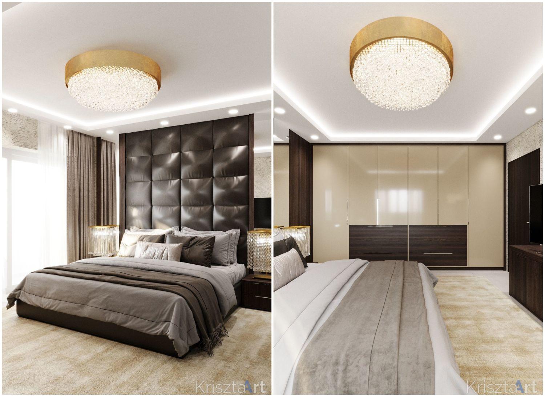 Látványos dekorpanel és magasfényű szekrény a hálószobában