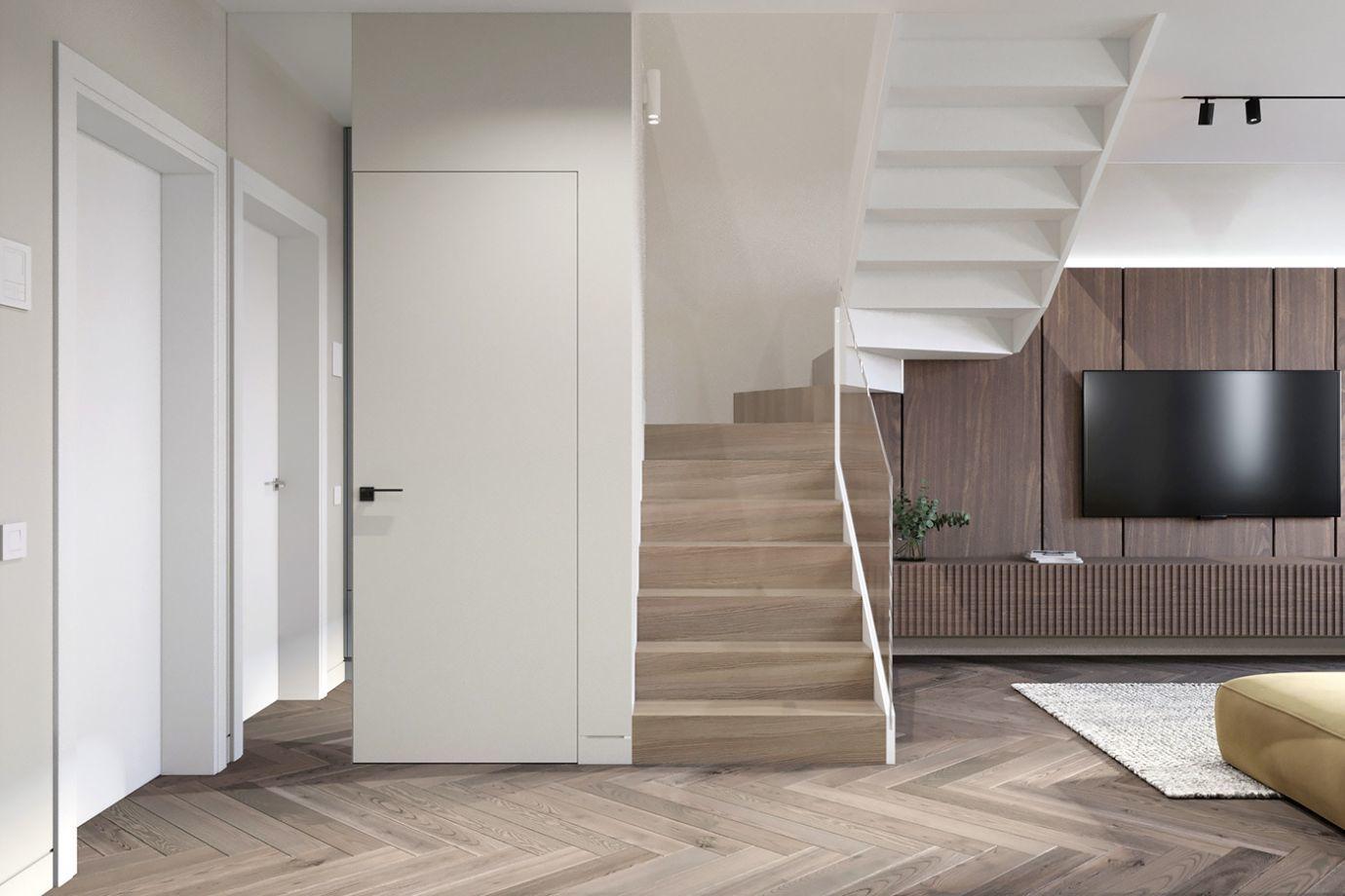 Kényelmes lépcső vezet az emeletre