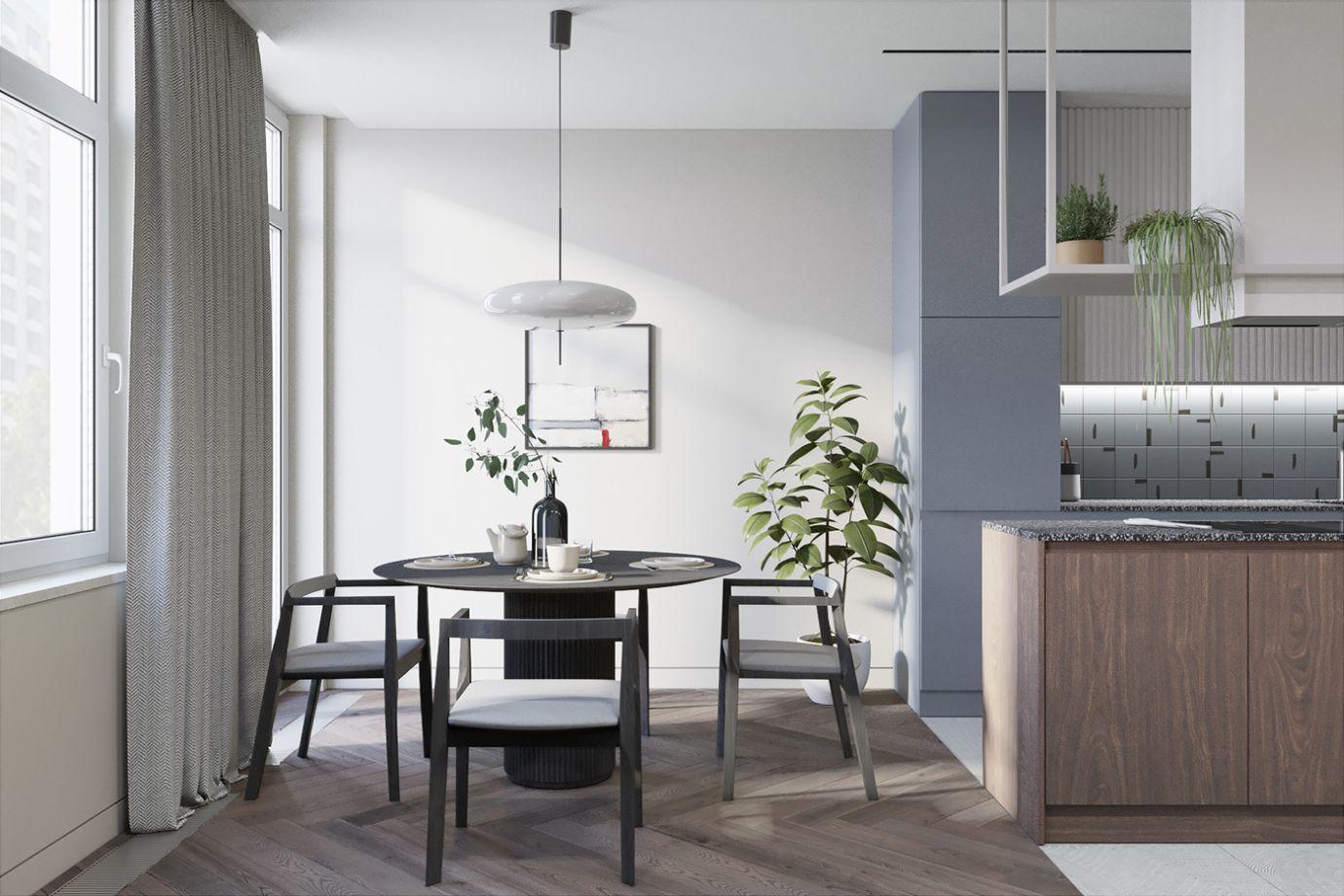 Háromszemélyes étkező design székekkel