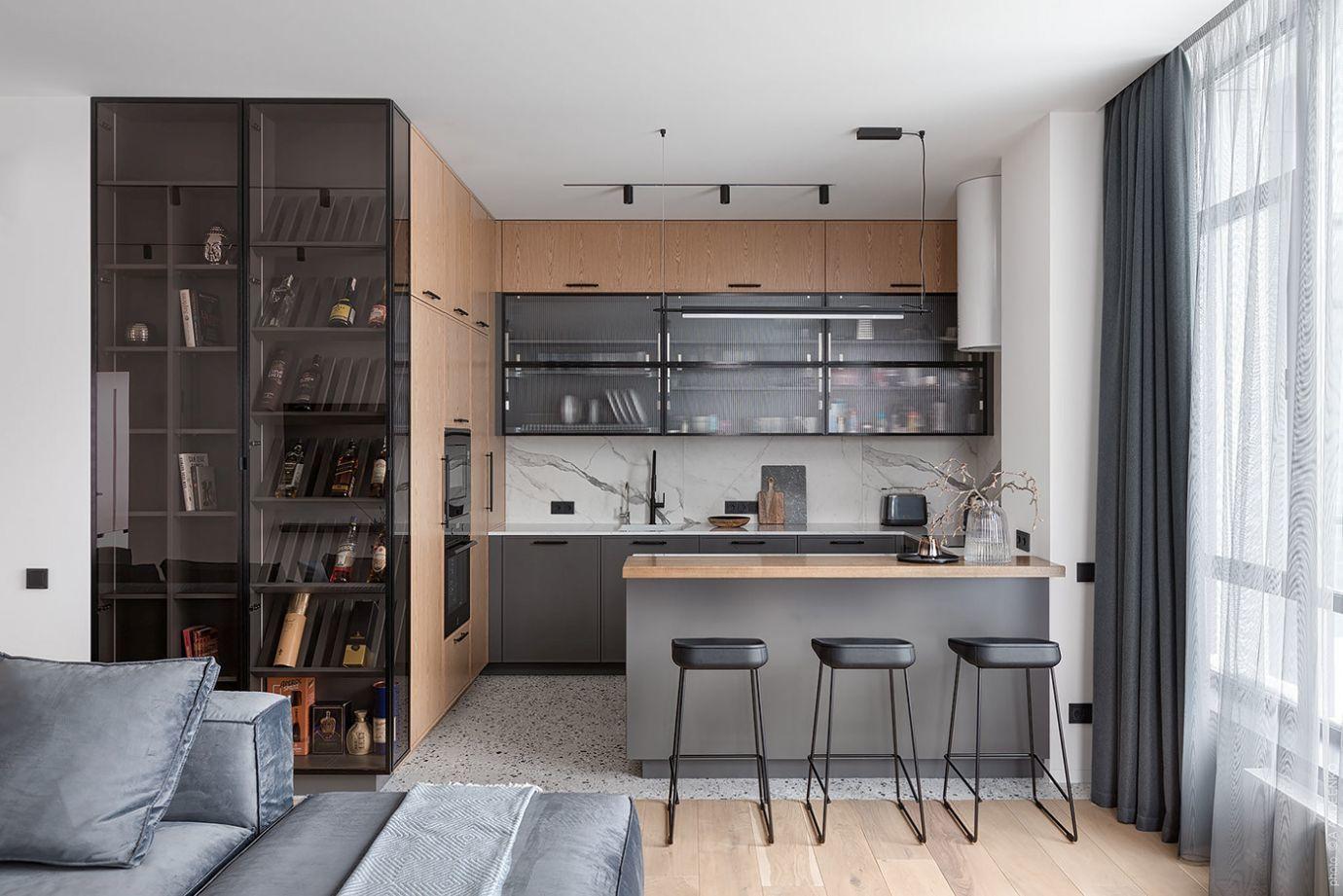 A konyha reggelizőpulttal egészül ki