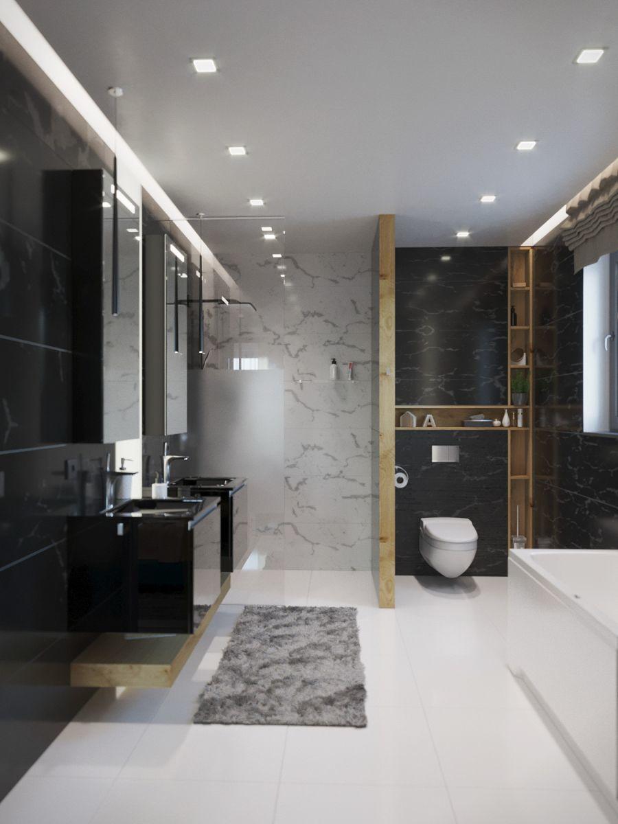 Luxus fürdőszoba Argenta burkolatokkal