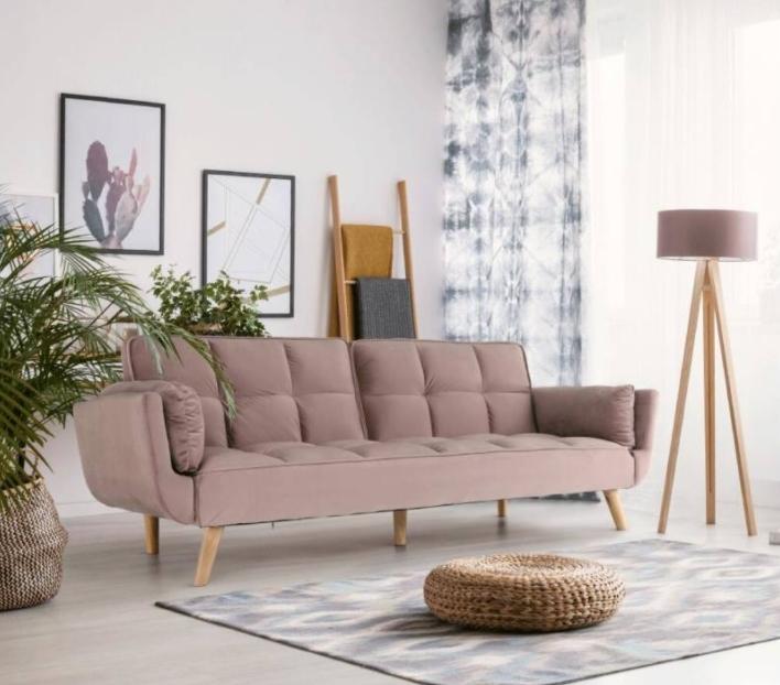 Kaprera kanapé fáradt rózsaszín