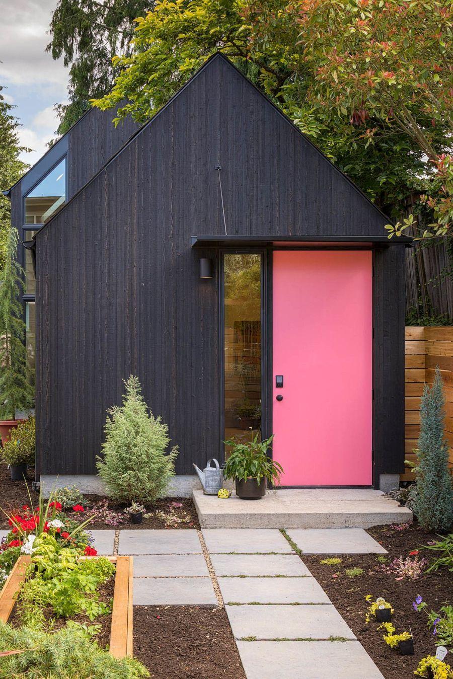 Bohém rózsaszínű ajtó