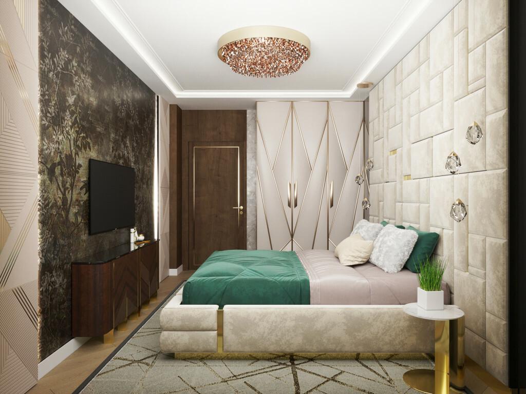 Art deco designelemek a hálószobában is