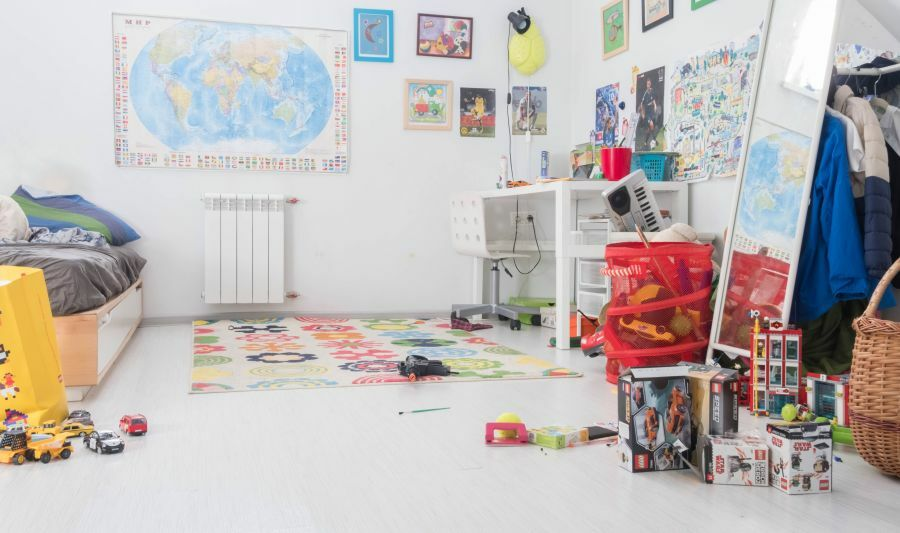 Atlasz dekoráció a gyerekszobában