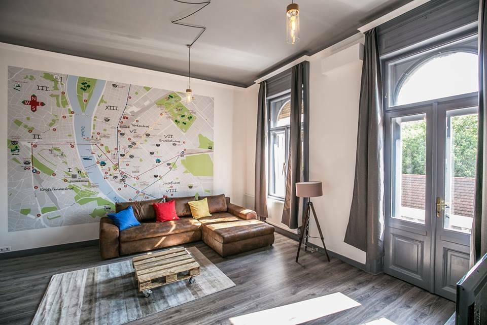 Budapest térképes Airbnb lakás