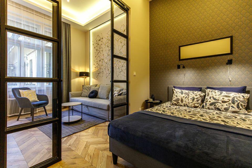 Hálószoba egy Airbnb lakásban Budapest