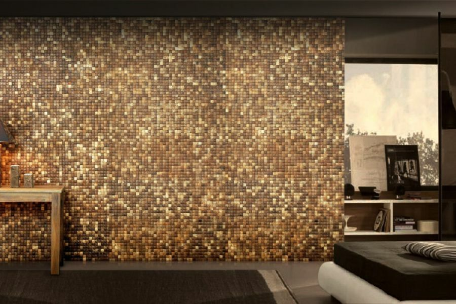 Kókusz mozaik barna színben
