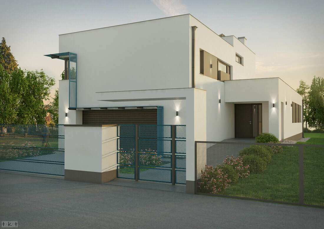 A ház külső képei Pápay György építész tervei alapján