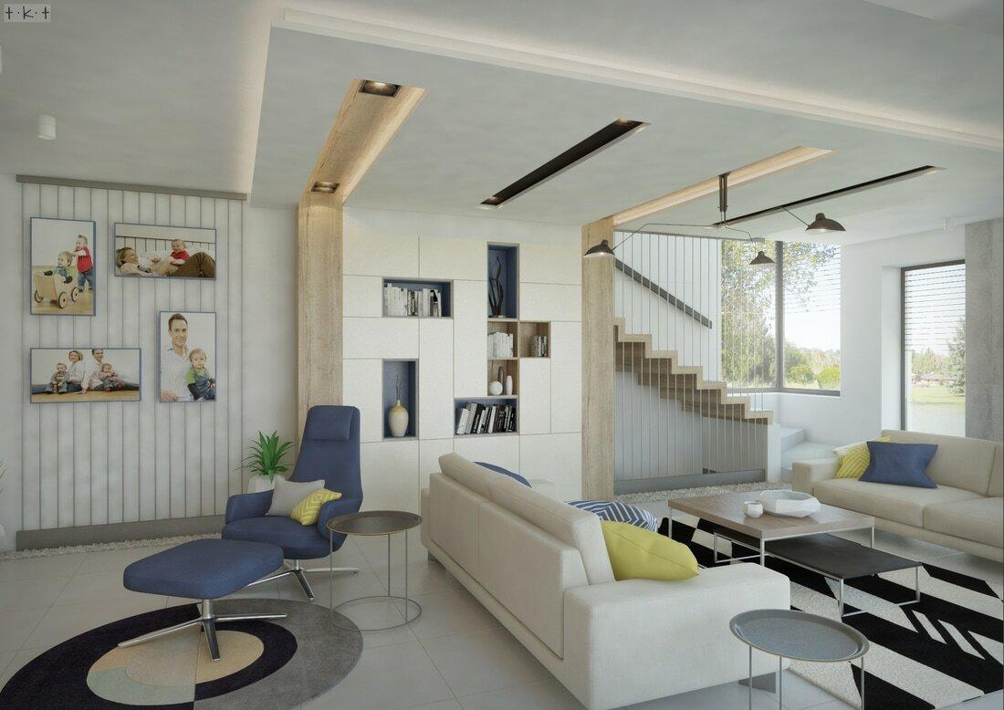 Siófoki kétszintes családi ház Tápler-Kapinya Tünde látványtervei
