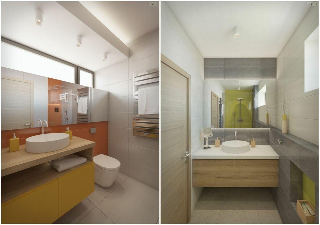 A gyerekszoba narancssárga, a földszinti vendég fürdőszoba pedig zöldes dekorációt kapott