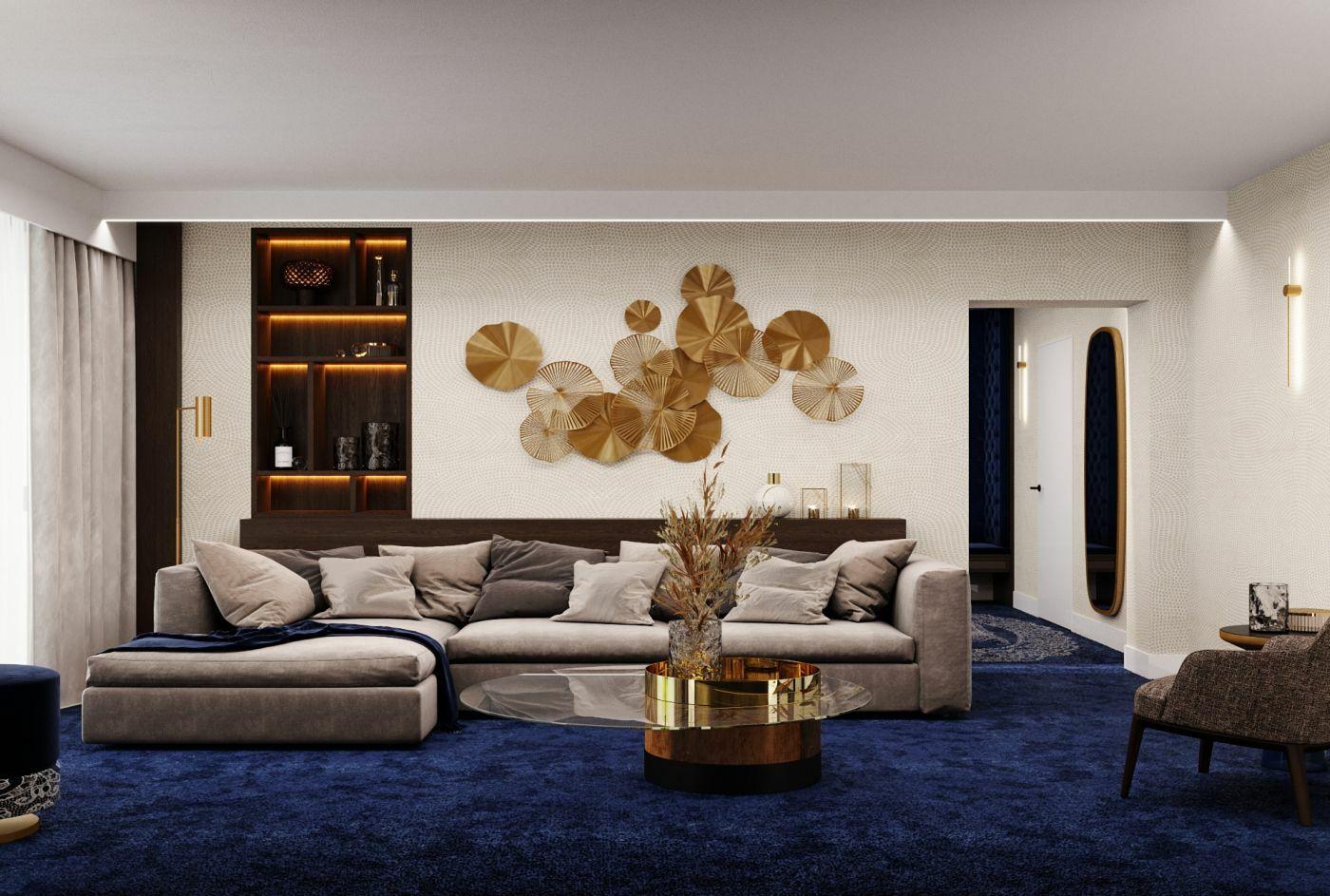 A nappali dekorációja is a csipketerítők formáját vetíti elénk